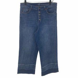 New York & Co. High Waist Wide Leg Jeans size 10